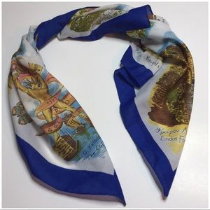 "Accessories - Women's Square Scarf ""Map of Greece"" made in Italy"